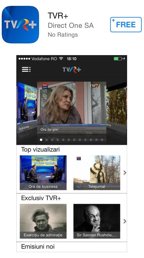 Photo of TVR se extinde pe smartphone si tableta cu aplicatia TVR+