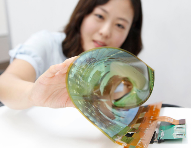 Panouri OLED flexibile de 18 inci