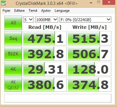 AMD R7 SSD 240GB Crystal Disk MBps