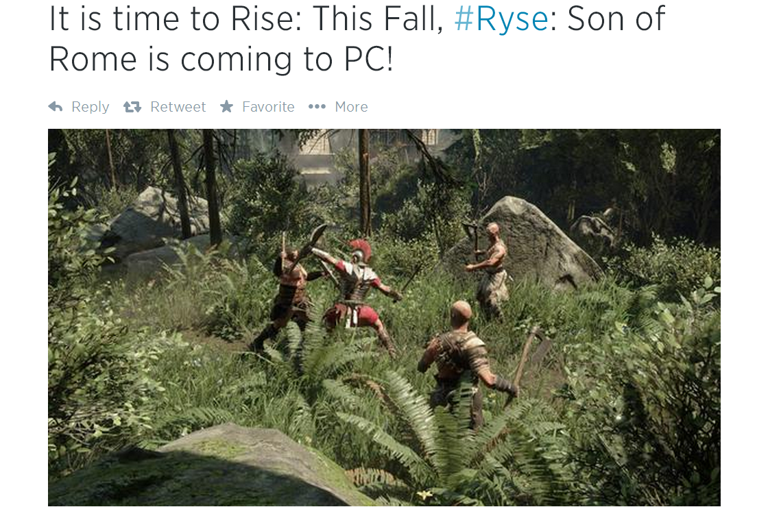 Photo of Ryse Son of Rome vine pe PC in rezolutii 4K
