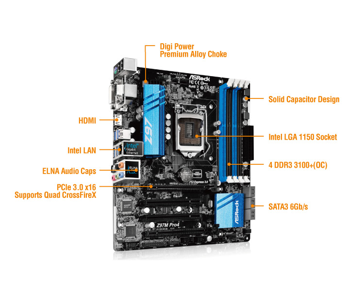 Photo of AsRock Z97M Pro4 – O placa de baza mica, dar nervoasa!