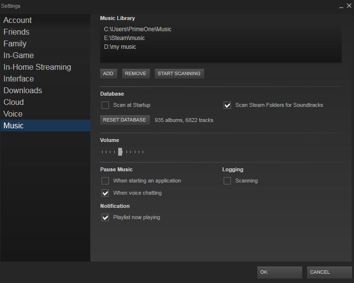 asculta muzica pe Steam