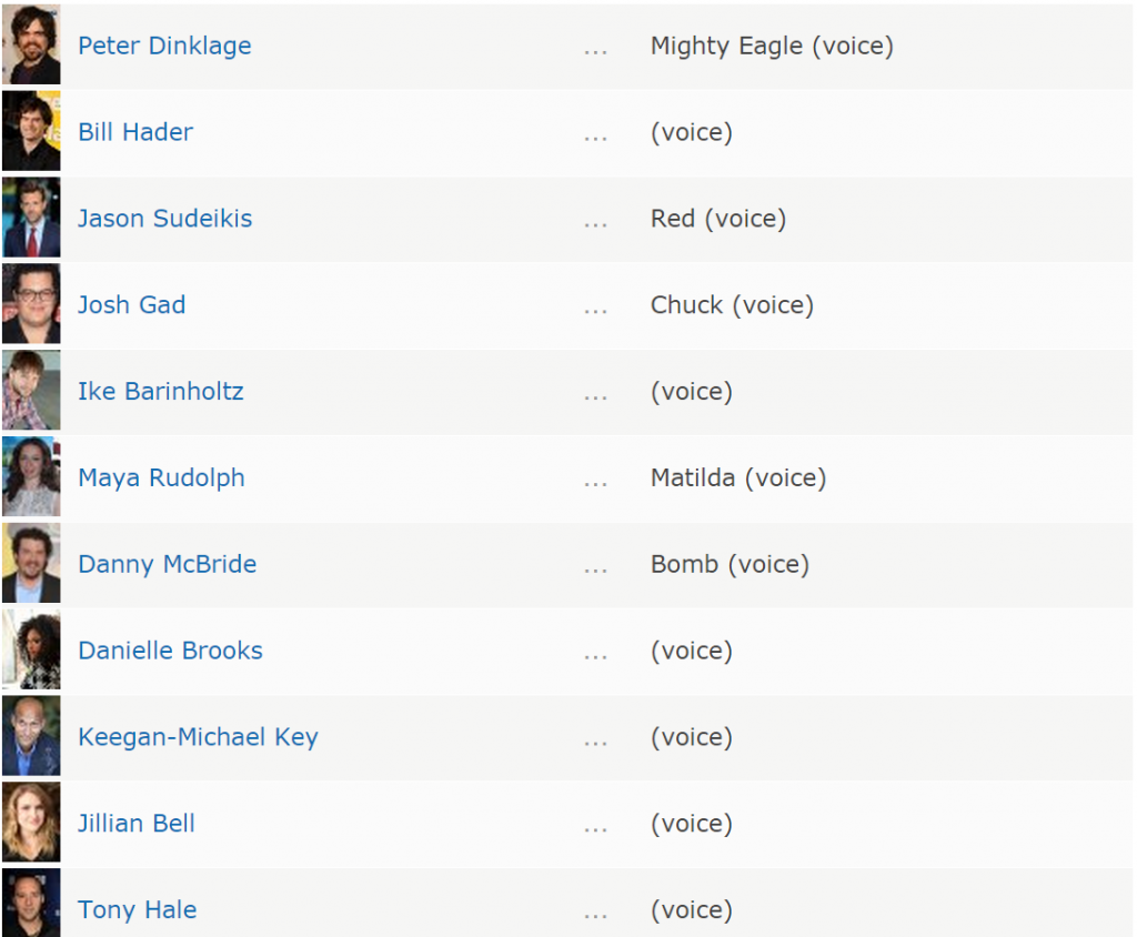 Angry Birds The Movie are acum si actori
