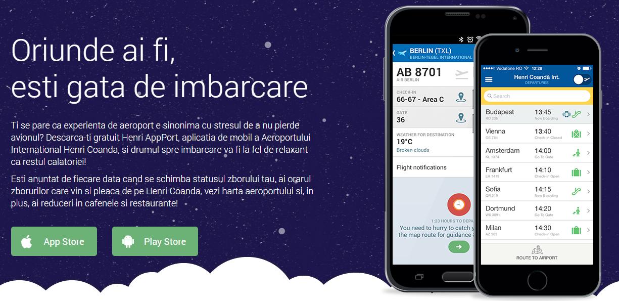Photo of Aeroportul Henri Coanda are acum aplicatie mobila – HenriAppPort