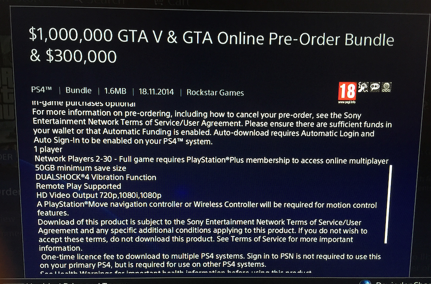 Photo of GTA 5 pe PS4 necesita… 50GB!!!
