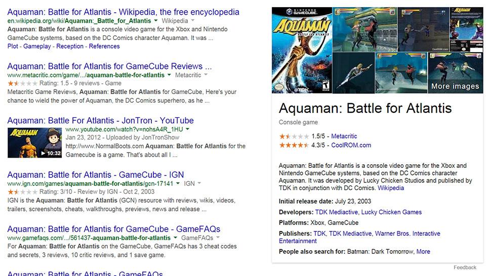 """Photo of Knowledge Graph de la Google """"ne spune"""" acum si despre jocuri"""
