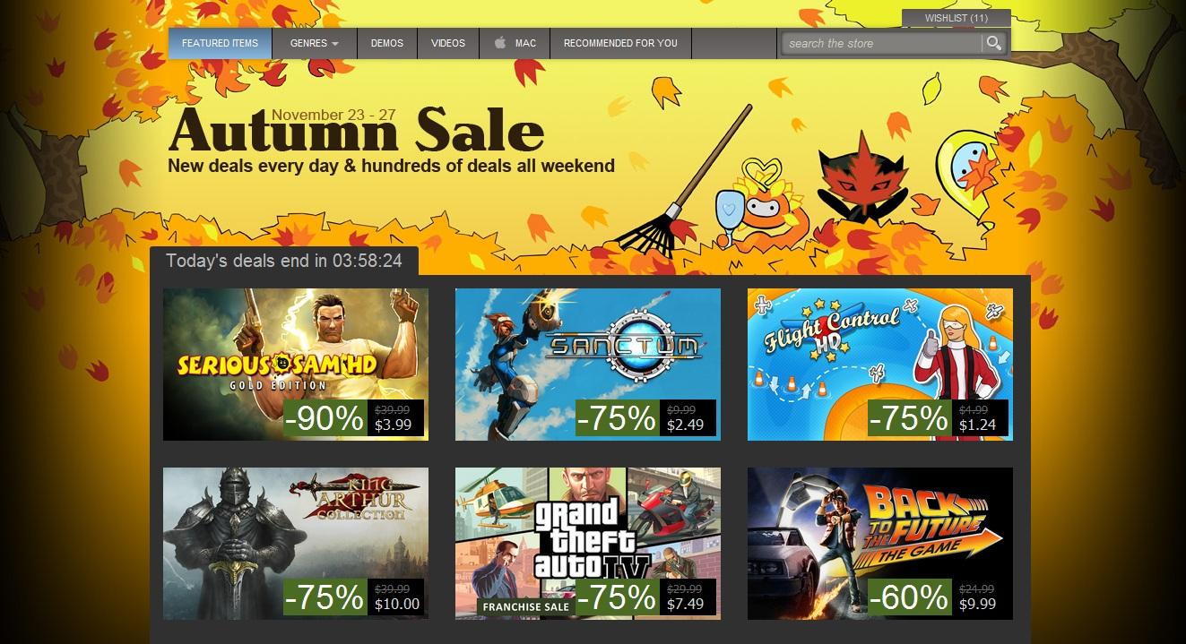 Photo of Potrivit Paypal, Steam Autumn Sale ar incepe miercuri, adica… maine!