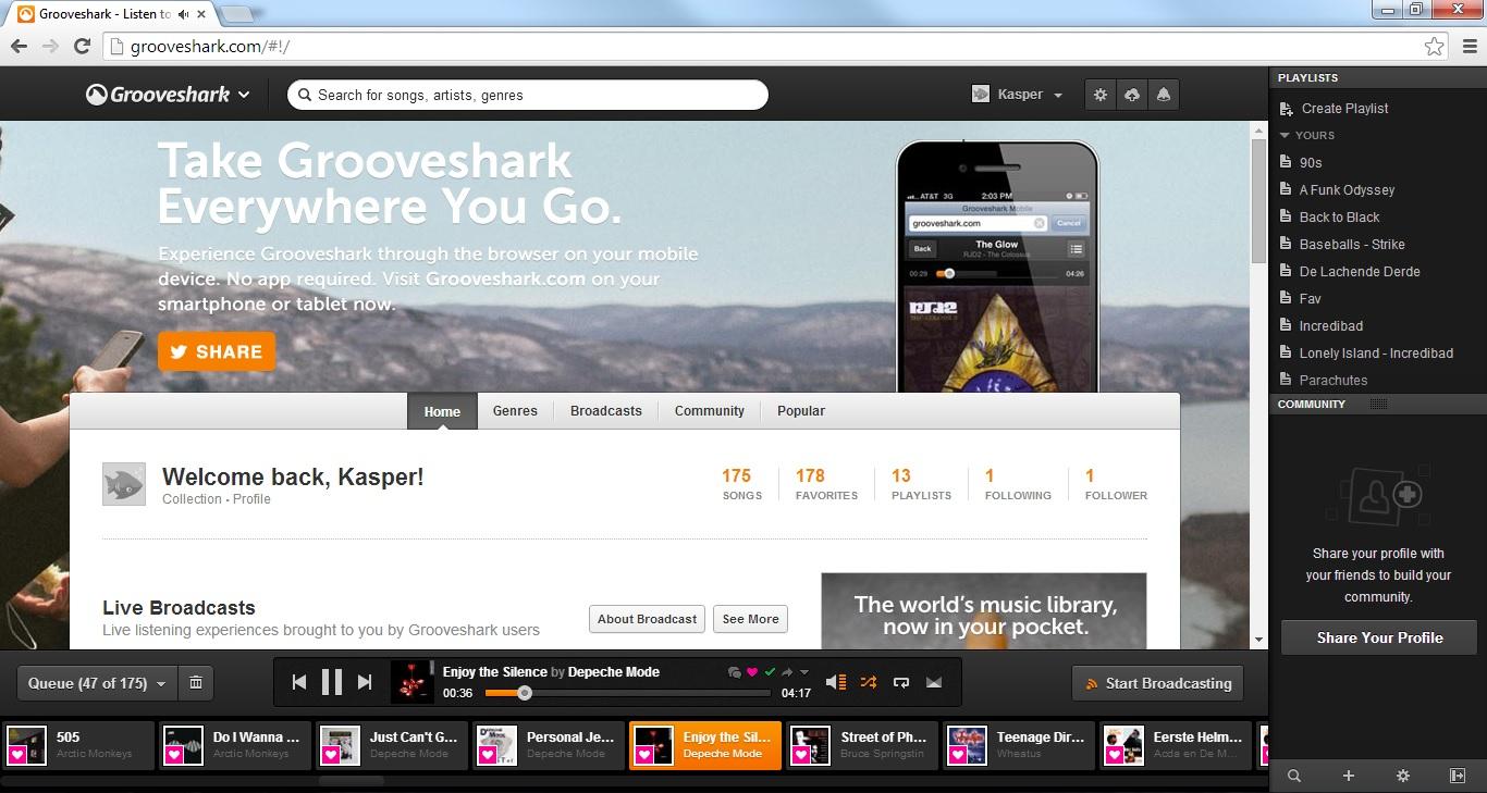 Photo of Dupa furtuna rasare soarele? Grooveshark revine in forta cu un serviciu de radio online!