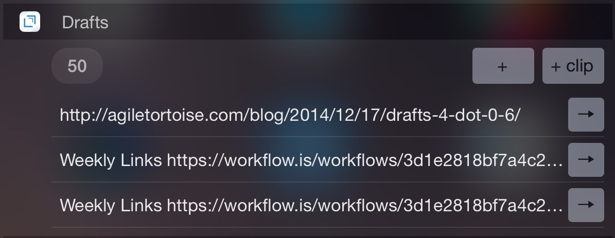 Photo of Drafts, una dintre cele mai bune aplicatii pentru notite de pe iOS, isi recapata widget-ul pentru NC!