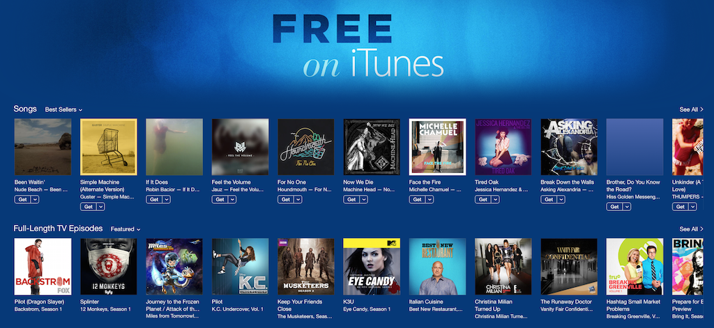 "Photo of Apple adauga sectiunea ""Free On iTunes""!"