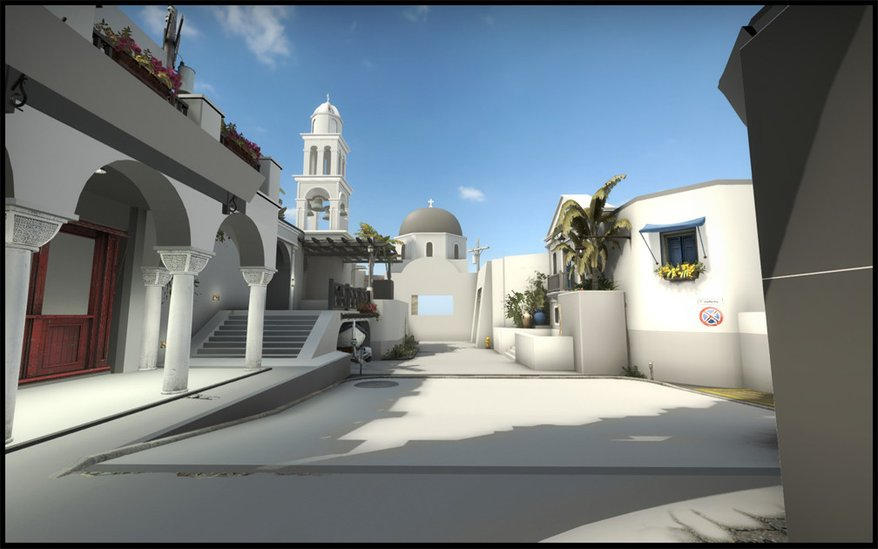 Photo of Insula greceasca Santorini reprodusa in Counter-Strike: Global Offensive