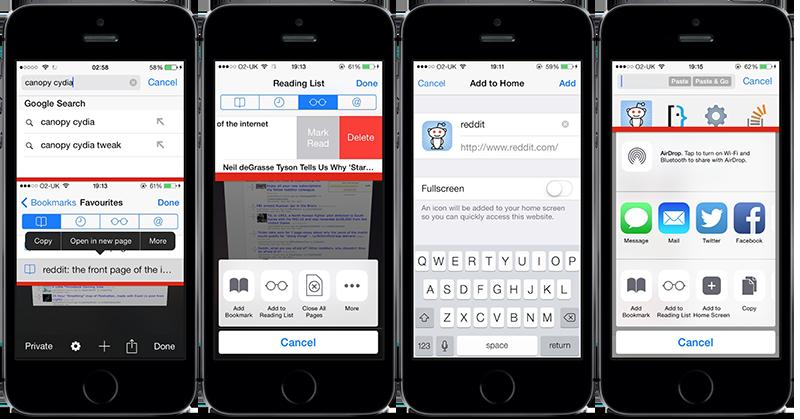 Photo of Canopy pentru iOS 8, sau… multe setari in plus pentru Safari!