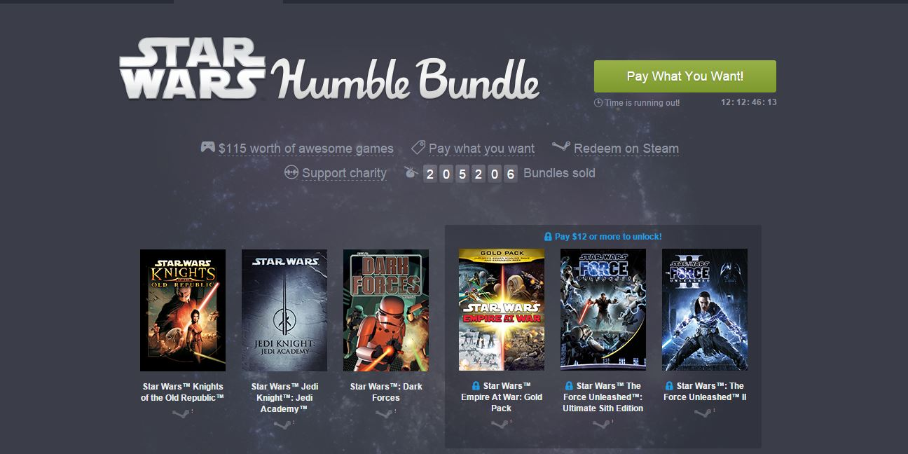 "Photo of Seria Star Wars, disponibila ""la oferta"" pe Humble Bundle"