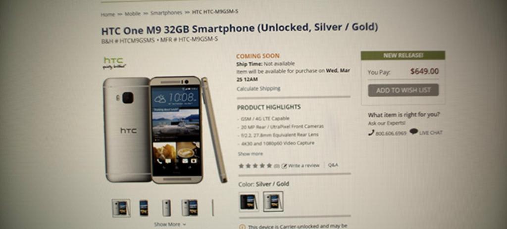 Photo of HTC One M9 va costa 650 de dolari in SUA