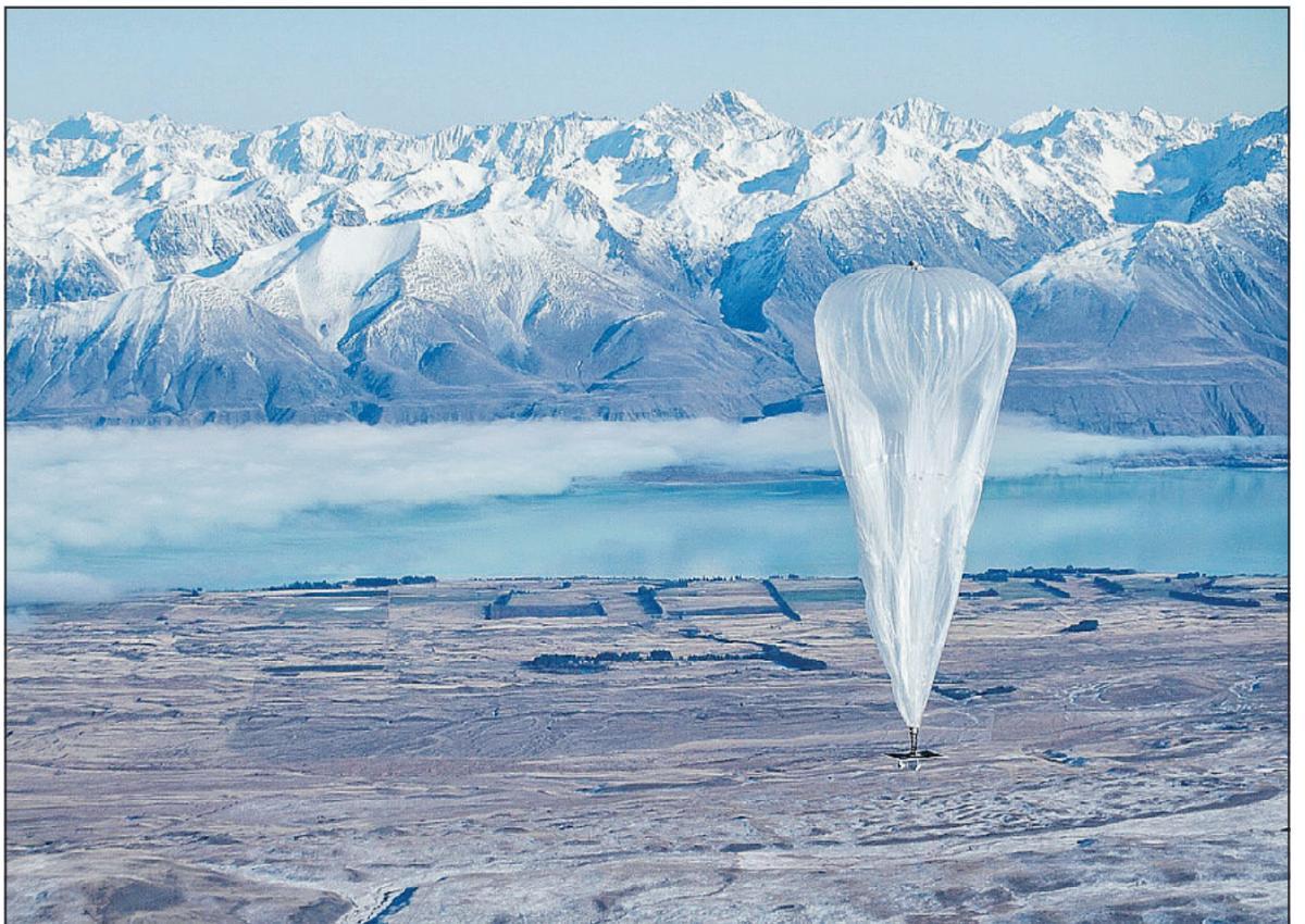 "Photo of Internet venit ""din cer"". Adica din baloanele Google."