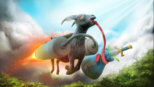 Photo of Goat Simulator… în Dota 2!