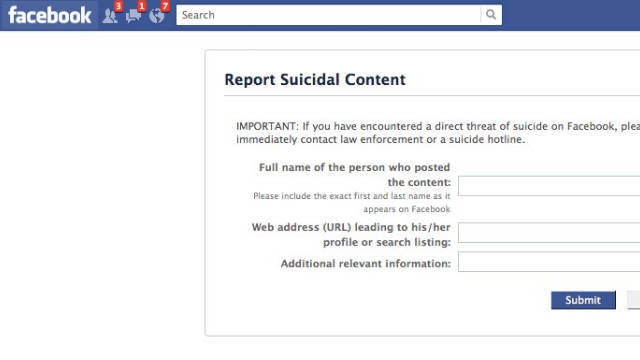 Photo of Nu glumi cu suicidul pe Facebook! Risti sa ajungi la psihiatrie. Bine, nu stim daca si in Romania.