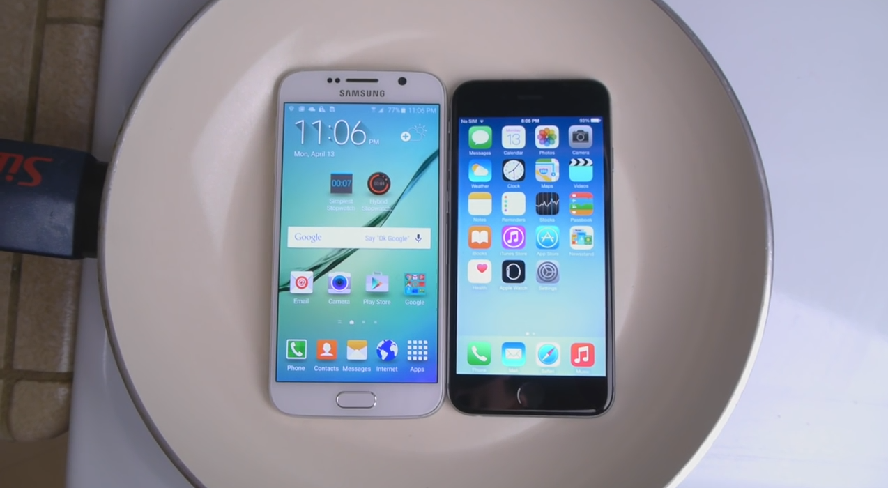 "Photo of ""Fiertura"" de Galaxy S6 sau iPhone 6 – care este mai rezistent?!"