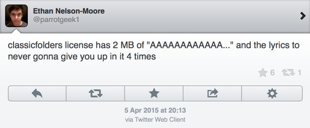 ClassicFolders Tweet