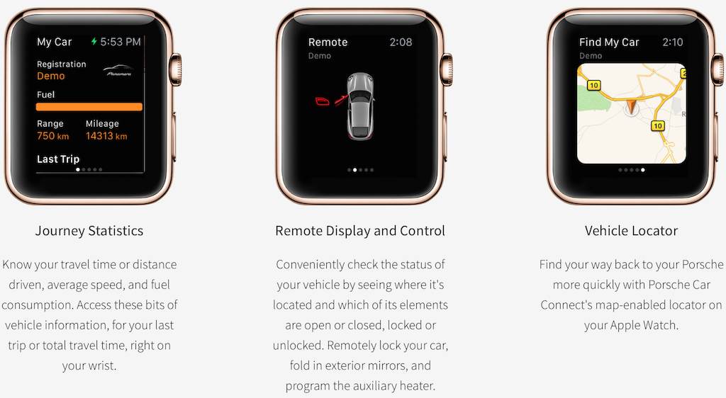 Photo of Apple Watch Porsche Car Connect iti permite sa-ti controlezi… Porschele de la distanta :)