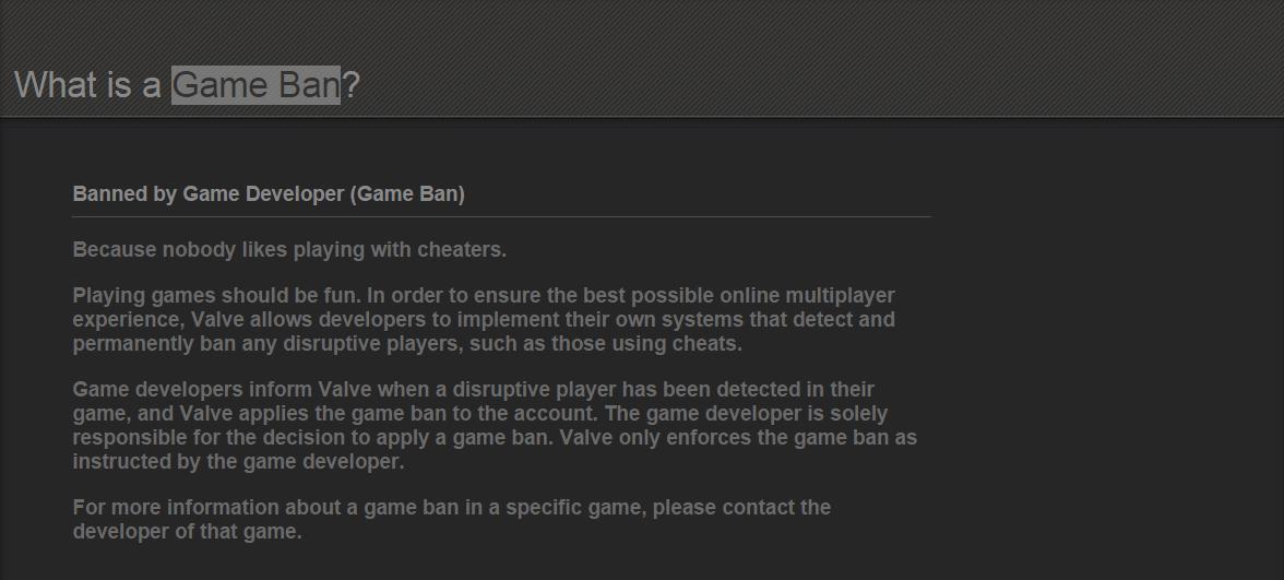 Steam Game Ban
