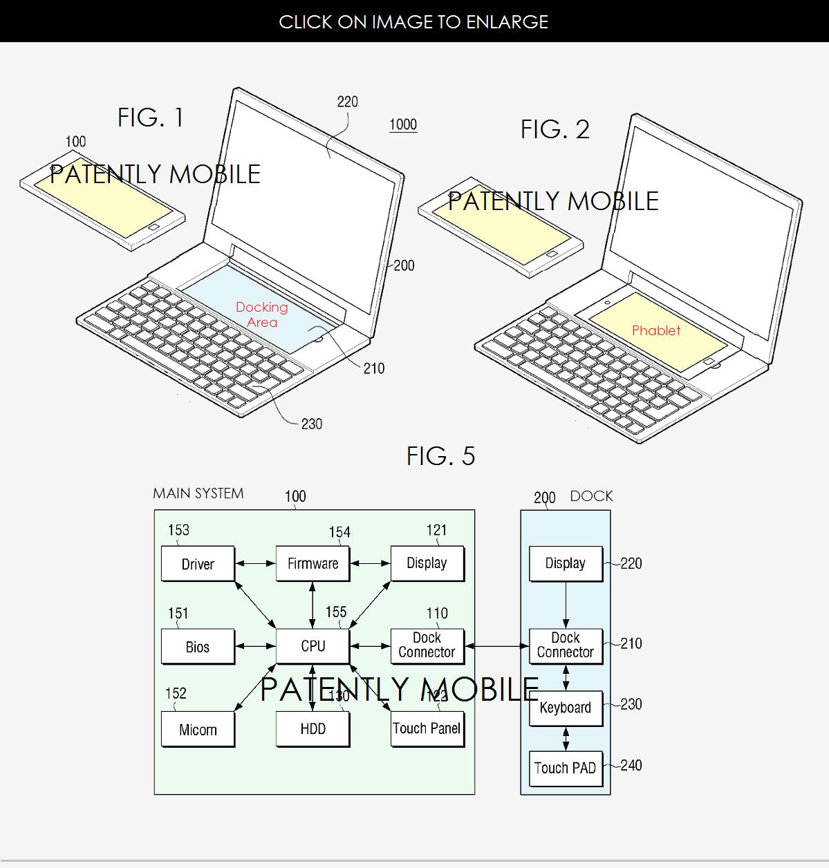 laptop cu dock de telefon
