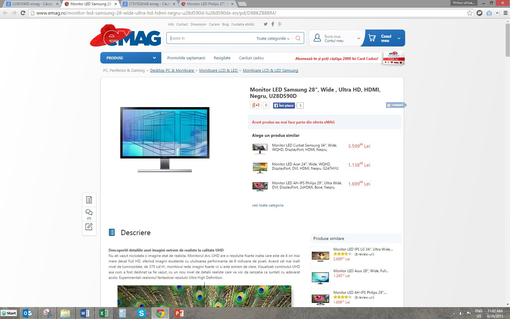 Monitor Samsung U28D590D eMAG