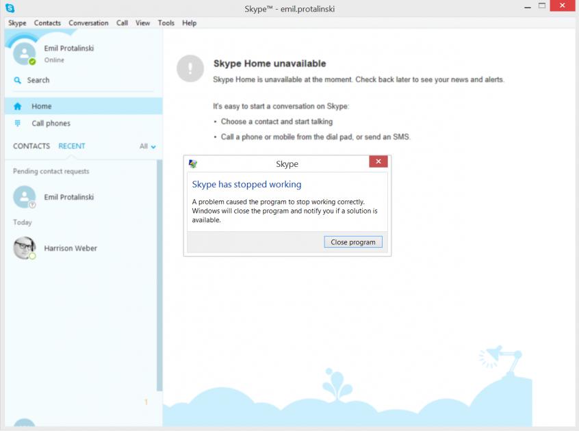 bug Skype