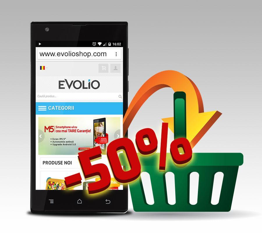 Photo of Evolio a lansat versiunea mobila pentru magazinul online, si odata cu aceasta… reduceri de 50% si 25% la diverse produse!