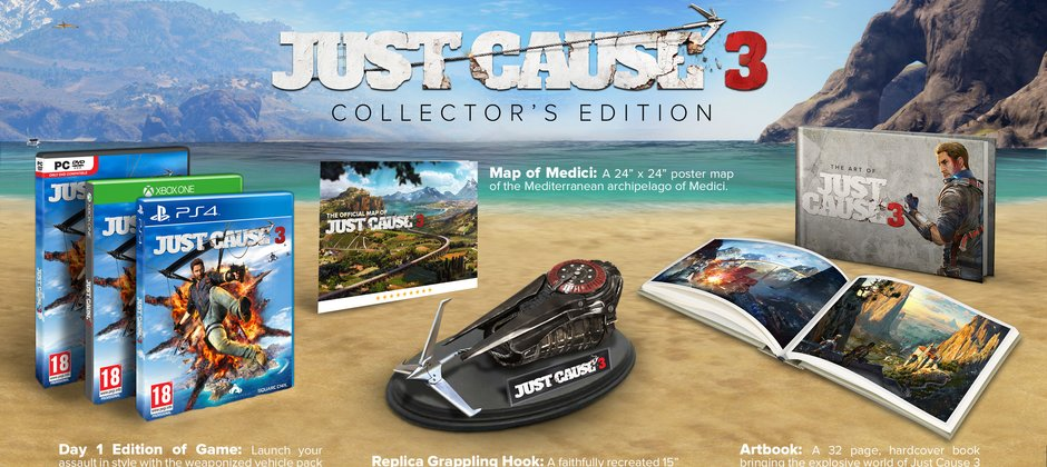 Photo of Just Cause 3 Collector Edition are la pachet carligul lui Rico