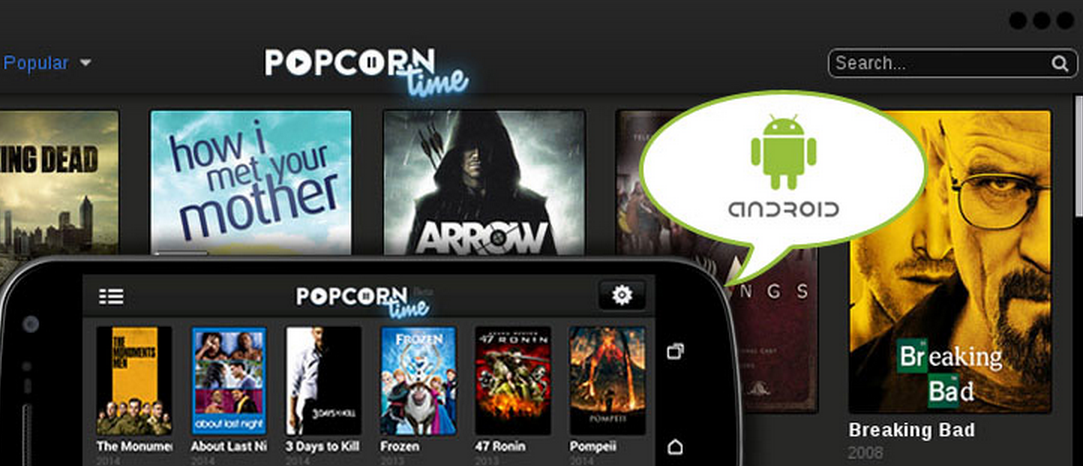 Photo of Popcorn Time, acum si pe Android!