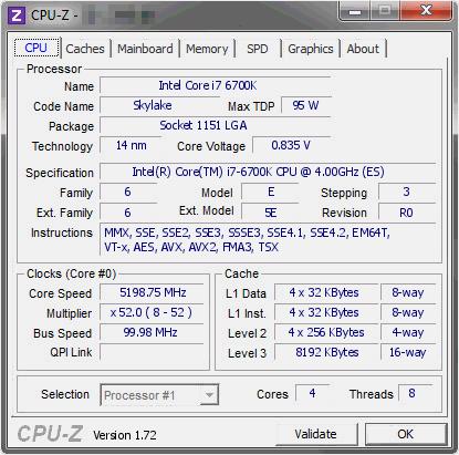 Skylake Core i7-6700K 2