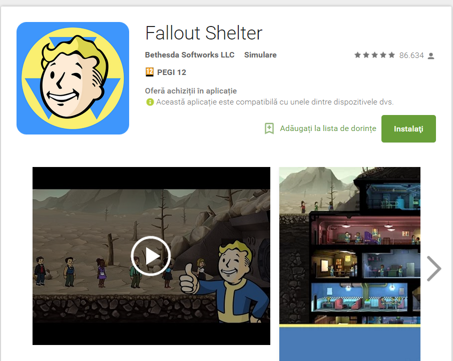 Photo of Fallout Shelter a sosit pe Android!