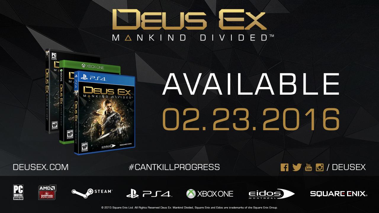 Photo of Deus Ex Mankind Divided sosește în februarie!