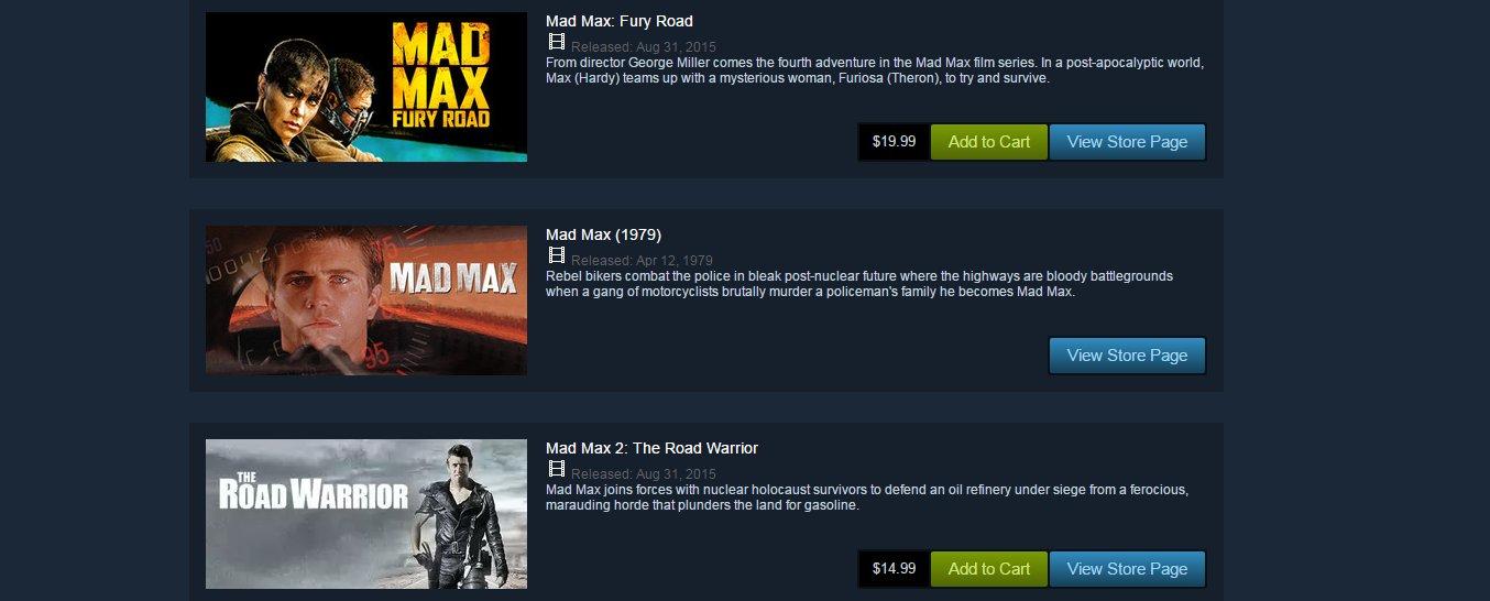 Photo of Până și filmele Mad Max sunt pe Steam