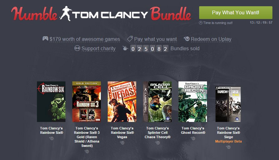 Photo of Jocurile Tom Clancy sunt pe Humble Bundle