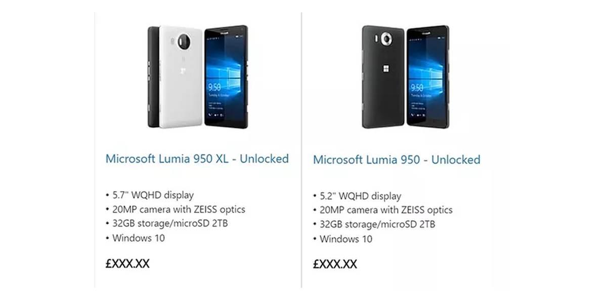 Photo of Lumia 950 anunțat, accidental
