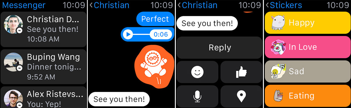 Photo of Facebook Messenger acum disponibil si pe watchOS 2
