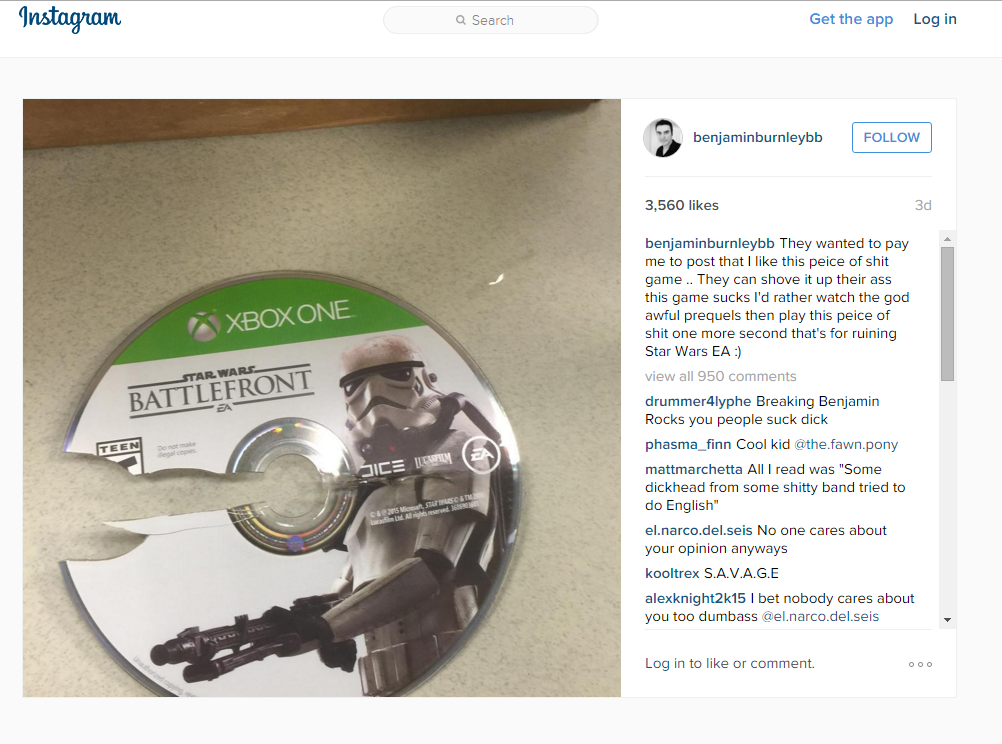 Star Wars Battlefront Disc