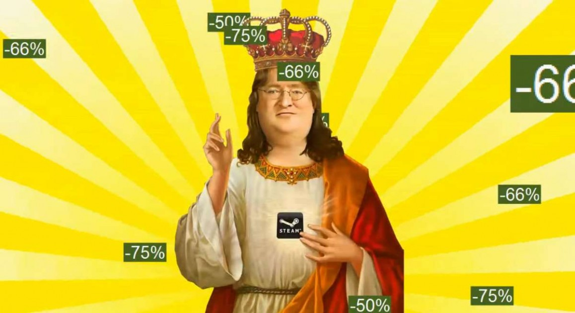 Valve steam sale Gabe Newell