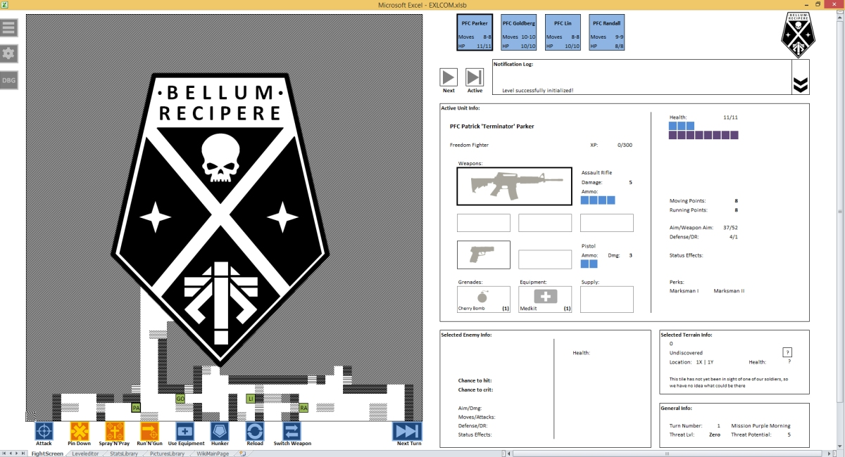 Photo of XCOM refacut in Excel