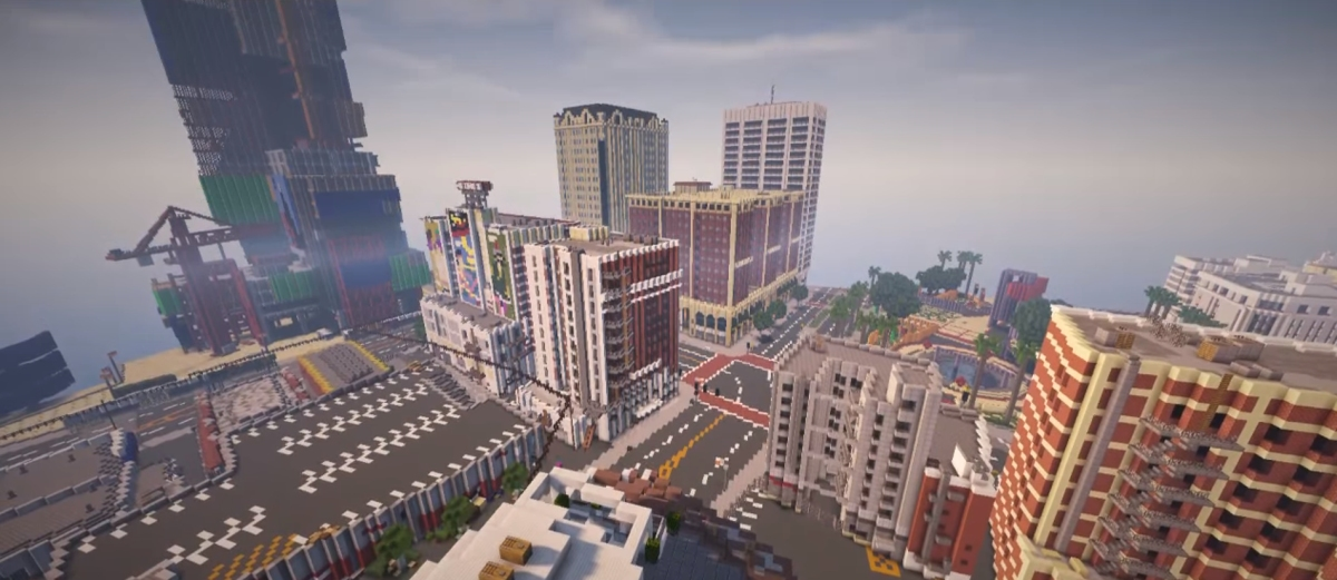 Photo of GTA 5 refacut in Minecraft
