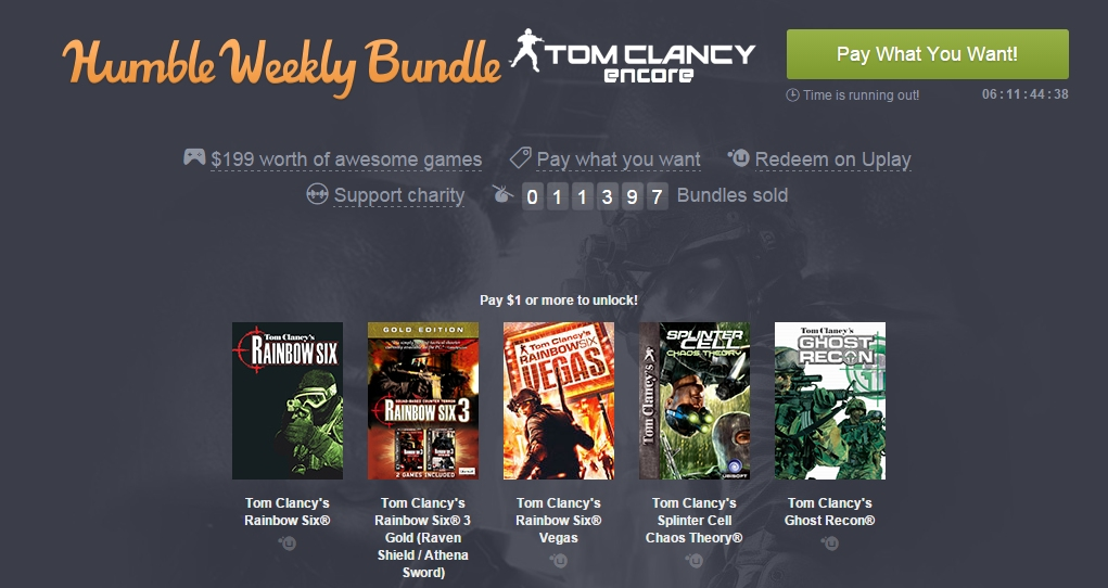 Photo of Humble Tom Clancy Bundle
