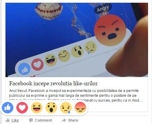 Photo of Facebook incepe revolutia like-urilor