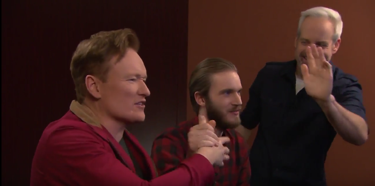 Photo of PewDiePie si Conan O'Brien n-au pic de carisma impreuna pe sticla