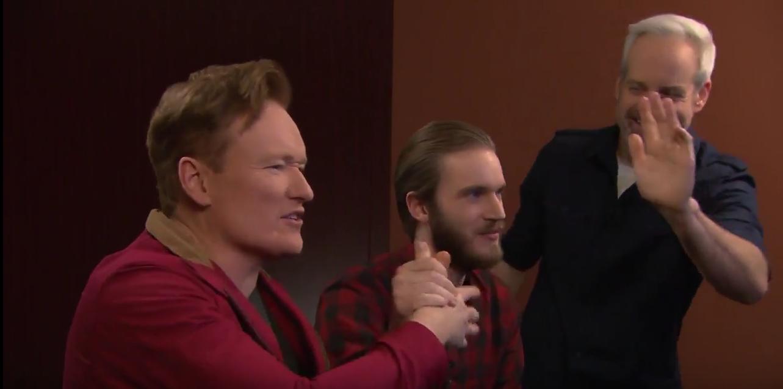 PewDiePie si Conan O'Brien