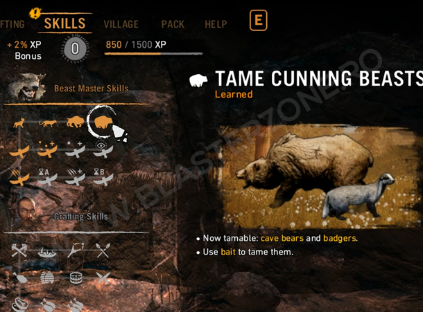 in review Far Cry Primal: Skill-urile
