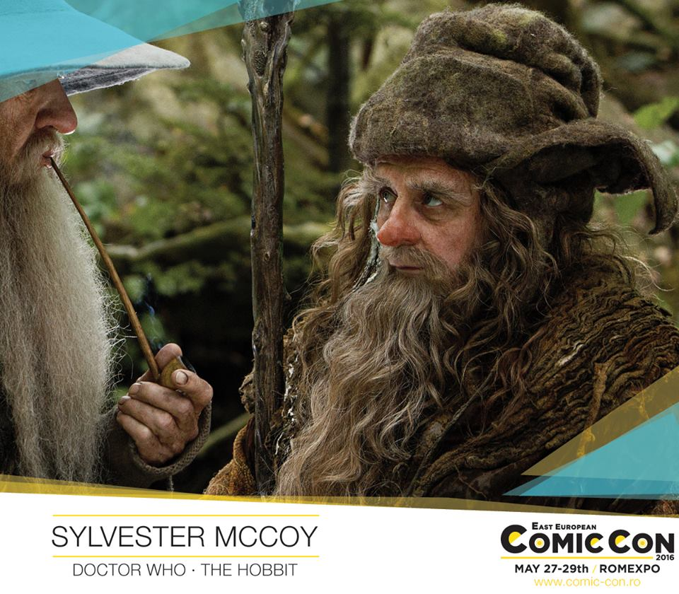 Photo of Sylvester McCoy vine la East European Comic Con