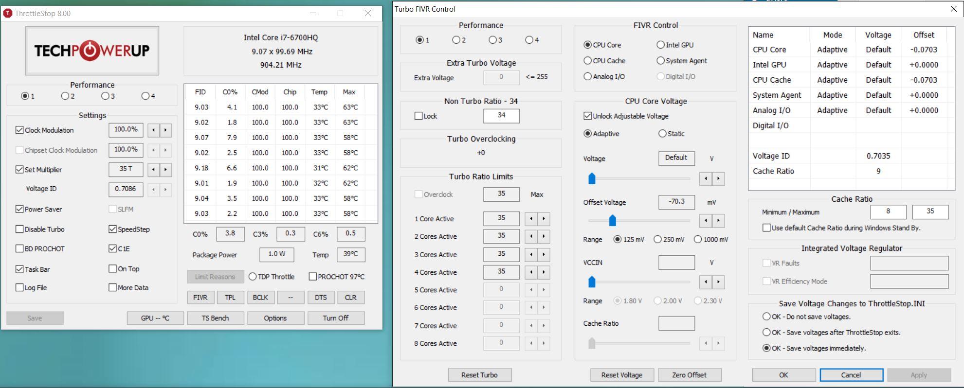 Procesorul i7-6700HQ din XPS 15 9550