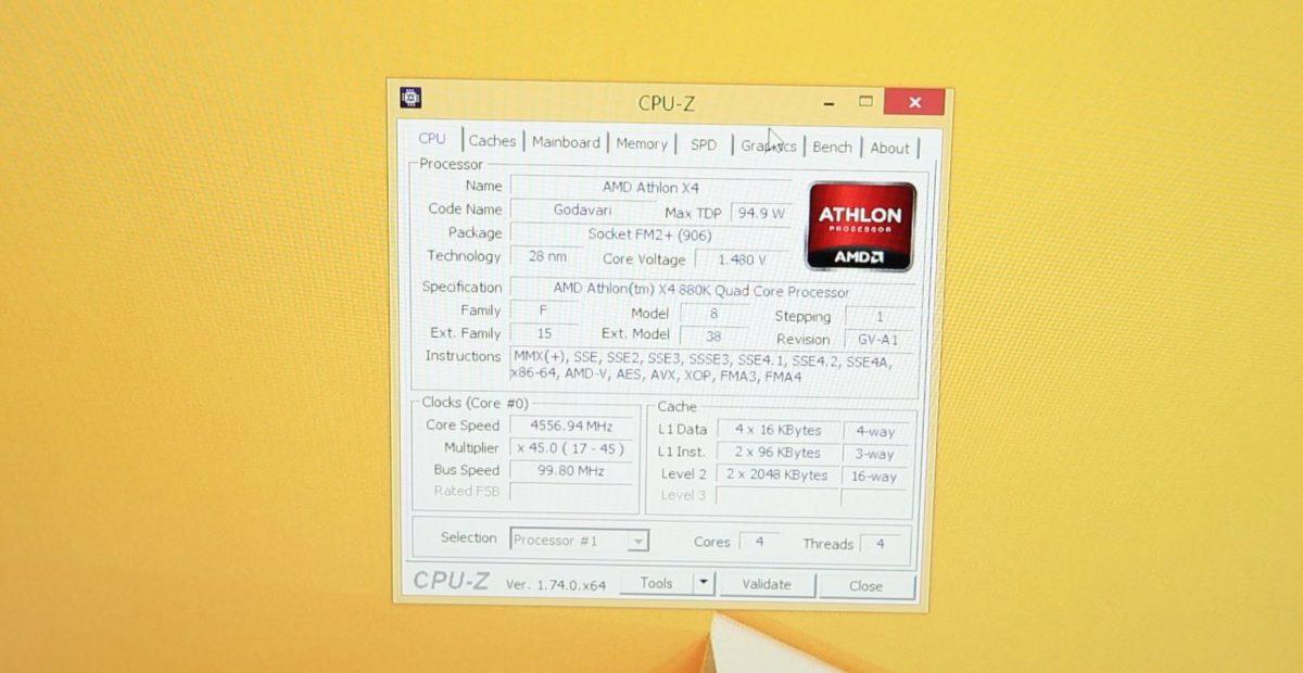 AMD Athlon X4 880K 1